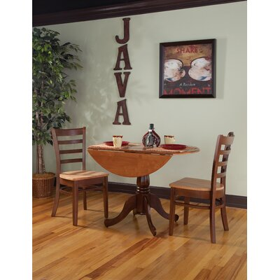 Broken Arrow 3 Piece Bistro Set Color: Cinnamon / Espresso