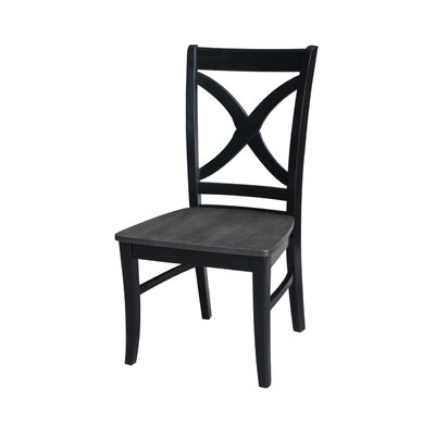 Beuvron Solid Wood Dining Chair Color: Black