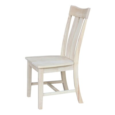 Mountain View Solid Wood Dining Chair Color: Unfinished