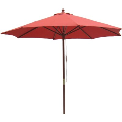 Lanark 9 Wooden Pole Market Umbrella