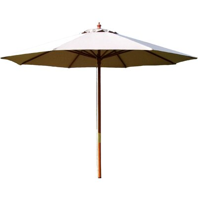 Lanark 9 Market Umbrella Fabric: Natural