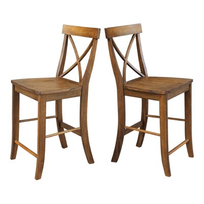 Downey 24 Bar Stool Color: Pecan