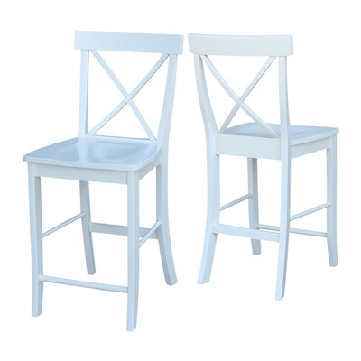 Downey 24 Bar Stool Color: White