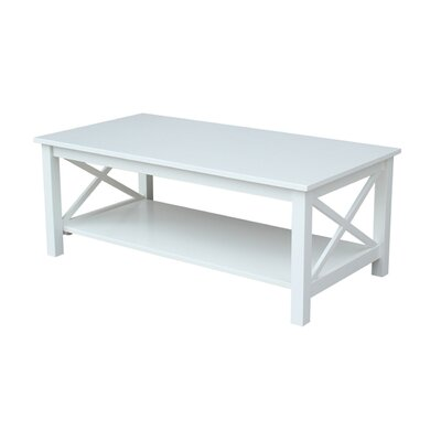 Towner X Hampton Coffee Table Color: White