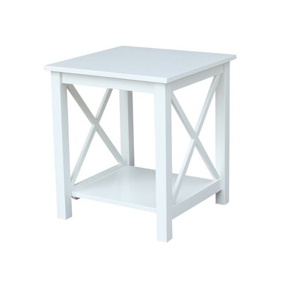 Towner End Table Color: White