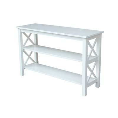 Towner Console Table Finish: White