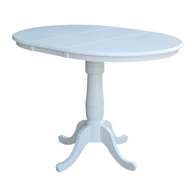 Windsor Counter Height Pub Table with Leaf Finish: White