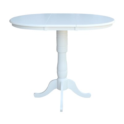 Madeline Pub Table Color: White