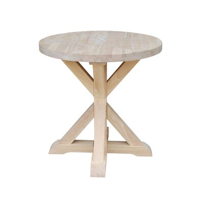 Philippine Round End Table Color: Unfinished