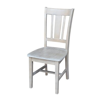 Malcolm Solid Wood Dining Chair Color: Weathered Gray