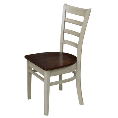 Bloomfield Solid Wood Dining Chair Color: Antiqued Almond/Espresso