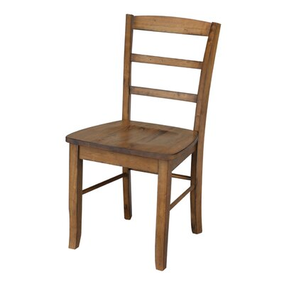 Brianne Solid Wood Dining Chair Color: Pecan