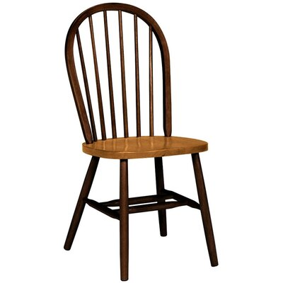 Low Price International Concepts Spindleback Windsor Side Chair Finish: Cinnamon and Espresso