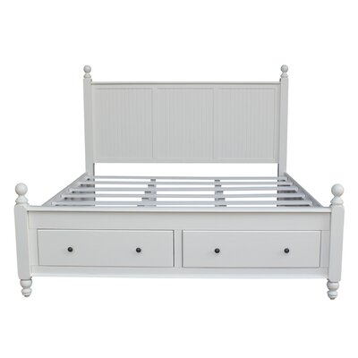 Quahog Panel Bed with Storage Size: King