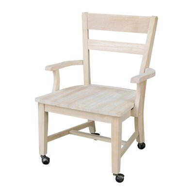 Desk Arm Solid Wood Dining Chair