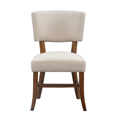 Dave Upholstered Dining Chair Color: Pecan
