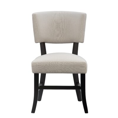 Dave Upholstered Dining Chair Color: Black
