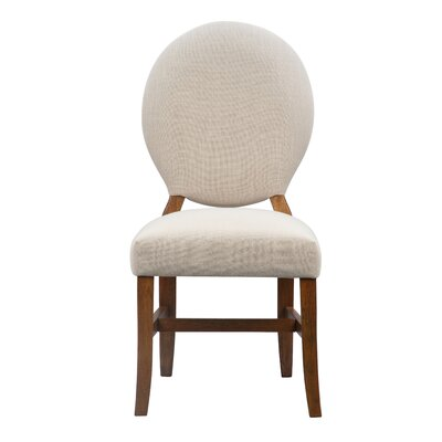 Mylinda Upholstered Dining Chair Color: Pecan