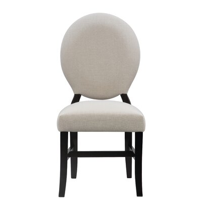 Mylinda Upholstered Dining Chair Color: Black
