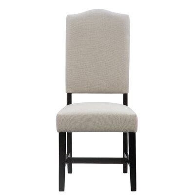 Myria Upholstered Dining Chair Color: Black