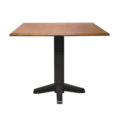Square Dual Drop Leaf 36 Extentable Dining Table Finish: Black/Cherry