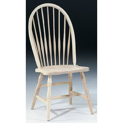 Rent Tall Windsor Side Chair Finish: Unf...