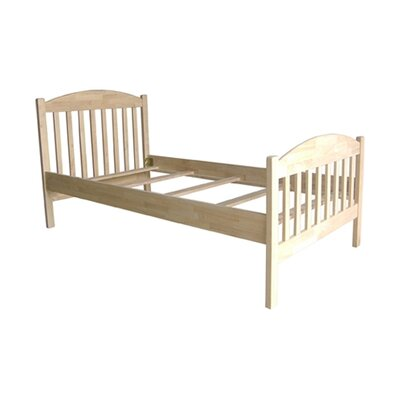 Solid Wood  on Unfinished Solid Wood Jamestown Twin Bed