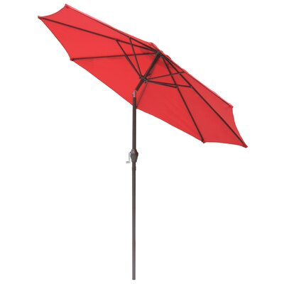 9 Market Umbrella Fabric: Autumn Red