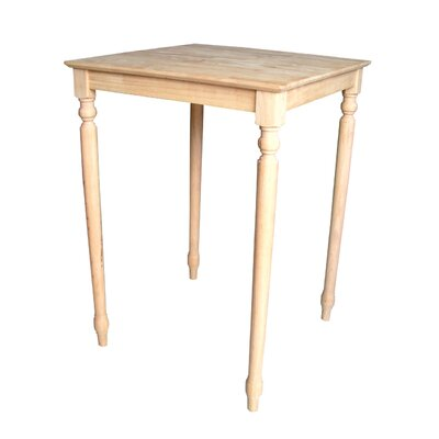 Turned Leg Bar Height Pub Table Tabletop Size: 30