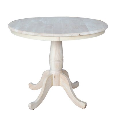 Doylan Dining Table Size: 36, Finish: Unfinished
