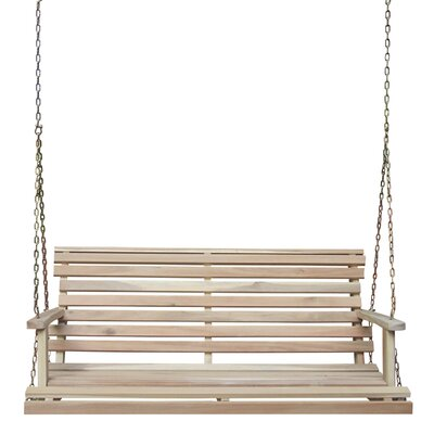 Preble Traditional Porch Swing Finish: Unfinished