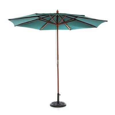 9 Market Umbrella Fabric: Hunter Green