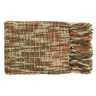 Fairbury Novelty Throw Blanket Color: Lime, Ivory, Orange, Dark Green, Mushroom