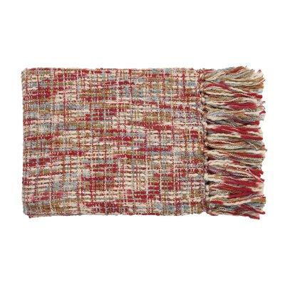 Fairbury Novelty Throw Blanket Color: Red, Sky, Ivory, Beige, Khaki