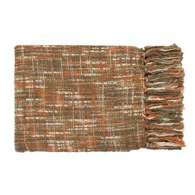 Fairbury Novelty Throw Blanket Color: Rust, Ivory, Brown, Dark Green, Mushroom
