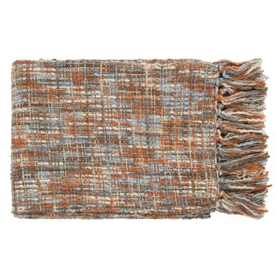 Fairbury Novelty Throw Blanket Color: Rust, Ivory, Light Blue, Mushroom, Gray