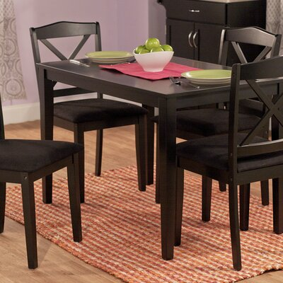 Scarlett 5 Piece Dining Set Finish: Black