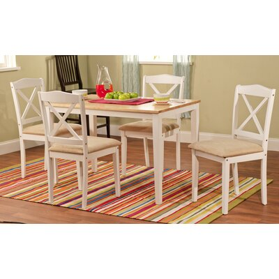Scarlett 5 Piece Dining Set Finish: White