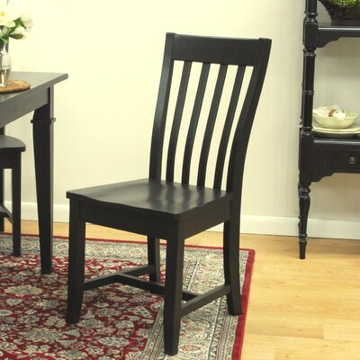 Camille Solid Wood Dining Chair Finish: Antique Black