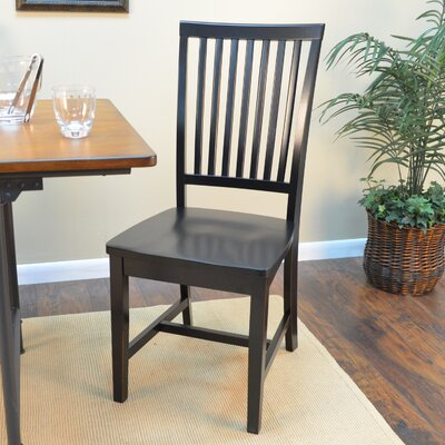 Biermann Solid Wood Dining Chair Finish: Antique Black