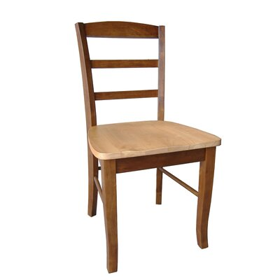 Brianne Ladderback Solid Wood Dining Chair Finish: Cinnamon / Espresso