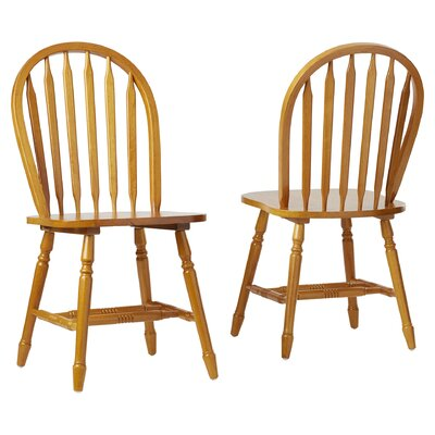 Charlotte Arrowback Side Chair Color: Oak