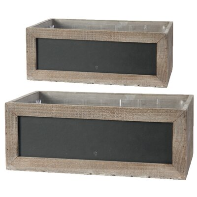 2 Piece Wood Planter Box Set