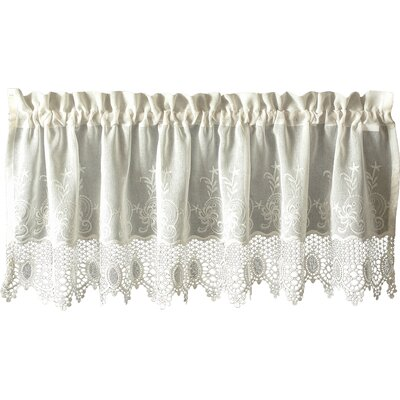 Oliverson Macramé 55 Curtain Valance Color: Off White