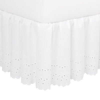 Dandelion Eyelet 180 Thread Count Bed Skirt Size: King, Color: White