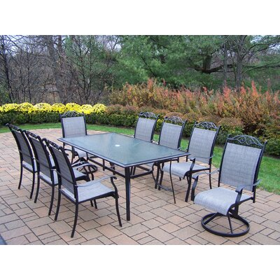 Basile 9 Piece Dining Set Finish: Black