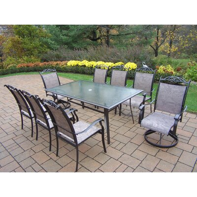 Basile 9 Piece Dining Set Finish: Coffee