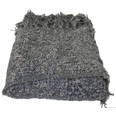 Paula Woven Throw Blanket Color: Gray