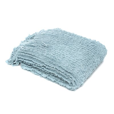 Melisande Ruffled Throw Blanket Color: Sky