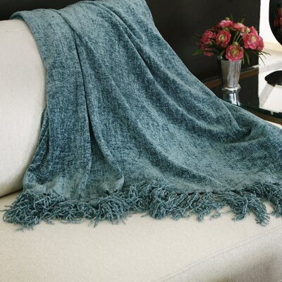 Melisande Throw Blanket Color: Denim